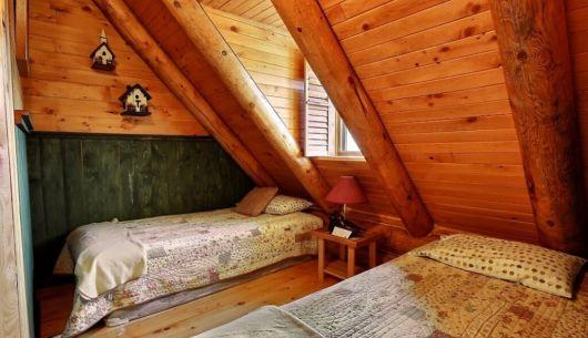 Chambre avec deux lits simples - Chalet Riverain