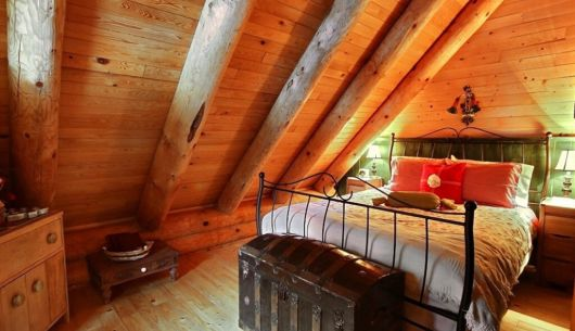 Chambre avec lit Queen - Chalet Refuge