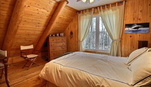 Chambre avec lit Queen - Chalet Ours Blanc