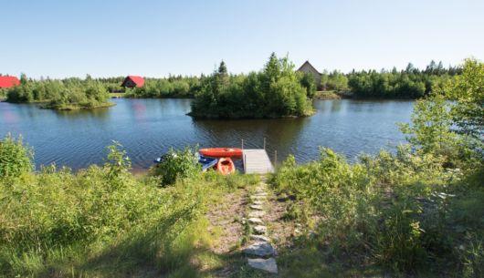 Accès privé au lac - Chalet Carcajou