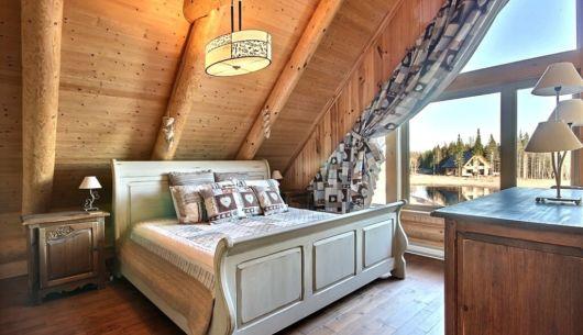Chambre avec lit King - Chalet Marmottes