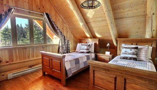 Chambre avec deux lits simples - Chalet Marmottes