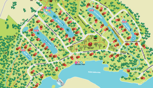 Carte du village touristique - Au Chalet en Bois Rond