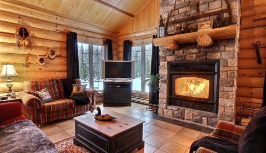 Foyer au bois - Chalet Wapitik