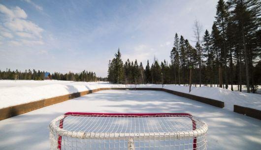 Patinoire de hockey - Au Chalet en Bois Rond
