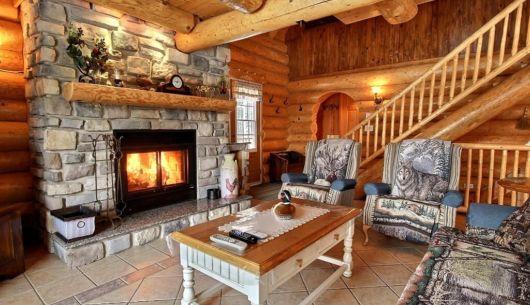 Foyer de pierre - Chalet Grand-Pic