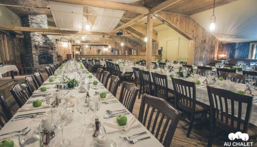 Salle de réception - Au Chalet en Bois Rond