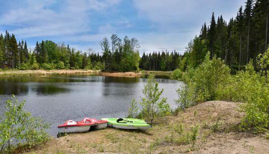 Accès au lac - Chalet Panache