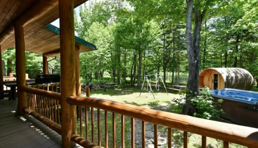 Spa et sauna privé - Chalet Huard