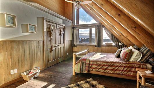 Chambre avec lit Queen - Chalet Loup Cervier